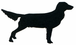 Golden Retriever Silhouette Laser Die Cut