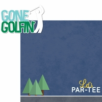 Golf: Gone Golfin' 2 Piece Laser Die Cut Kit
