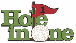 Golf: Hole In One Laser Die Cut