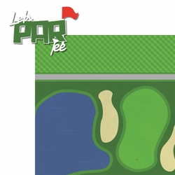 Golfing: Let's Par Tee 2 Piece Laser Die Cut Kit