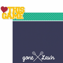 Gone Lax'n: Love This Game 2 Piece Laser Die Cut Kit