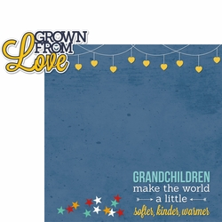 Grandparents: Grown From Love 2 Piece Laser Die Cut Kit