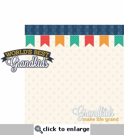 Grandparents: World's Best Grandkids 2 Piece Laser Die Cut Kit