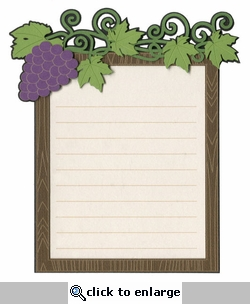 Grapes Journal Block Laser Die Cut