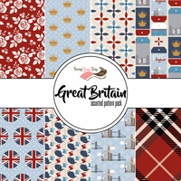 Great Britain Assorted 12 x 12 Paper Pack