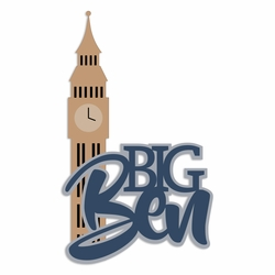Great Britain:  Big Ben Laser Die Cut