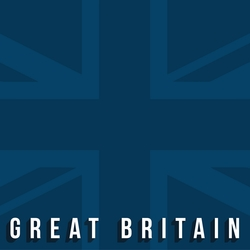 Great Britain: Blue Union Jack 12 x 12 Paper