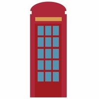 Great Britain: Phone booth Laser Die Cut