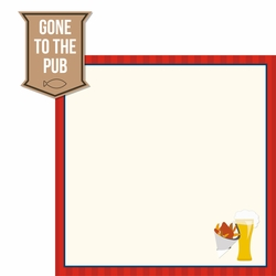 Great Britain: To The Pub 2 Piece Laser Die Cut Kit