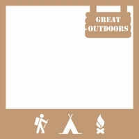 Great Outdoors 12 x 12 Overlay Laser Die Cut