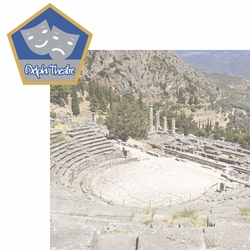Greece: Delphi Theatre 2 Piece Laser Die Cut Kit