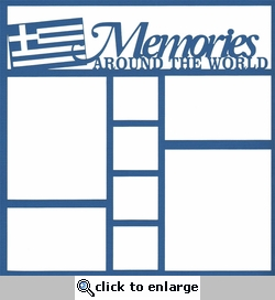 Greece Memories Around The World 12 x 12 Overlay Laser Die Cut