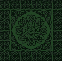 Green Celtic Border 12 x 12 Paper