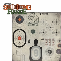 Guns: At the Shooting Range 2 Piece Laser Die Cut Kit