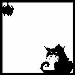 Halloween: Cat and Bat 12 x 12 Overlay Laser Die Cut