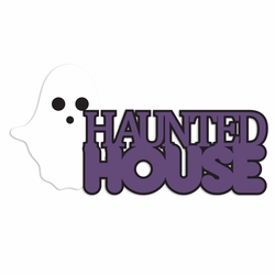 Halloween: House and Moon Laser Die Cut