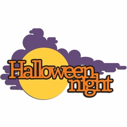 Halloween Night Laser Die Cut