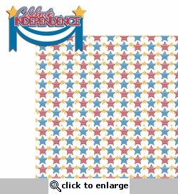 Happy 4th: Celebrate Independence 2 Piece Laser Die Cut Kit