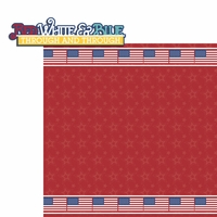 Happy 4th: red, white and blue 2 Piece Laser Die Cut Kit