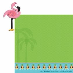 Happy Beach: Flamingo 2 Piece Laser Die Cut Kit