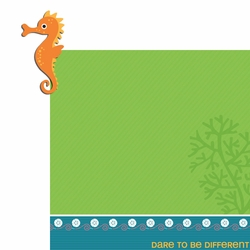 2SYT Happy Beach: Seahorse 2 Piece Laser Die Cut Kit