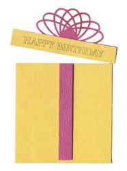 Happy Birthday Present Girl Laser Die Cut