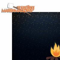 Happy Camper: Roasting Marshmallows 2 Piece Laser Die Cut Kit