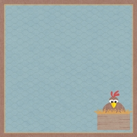 Happy Chickens: The Coop 12 x 12 Paper