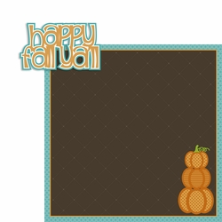 Happy Fall Ya'll 2 Piece Laser Die Cut Kit
