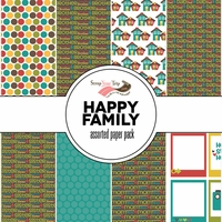 Happy Family Assorted 12 x 12 Paper Pack