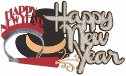 Happy New Year Laser Die Cut