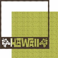 Hawaii: Bamboo Overlay Quick Page Laser Die Cut