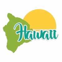 Hawaii: Hawaii Laser Die Cut