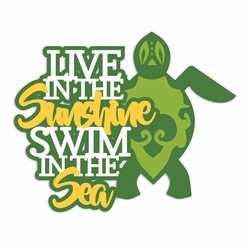 Hawaii: Live in the Sunshine Laser Die Cut