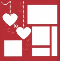 Heart to Heart 12 x 12 Overlay Laser Die Cut