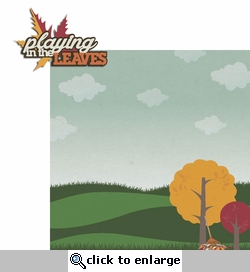 Hello Fall: Playing Leaves 2 Piece Laser Die Cut Kit