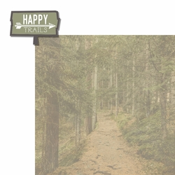 Hiking: Happy Trails 2 Piece Laser Die Cut Kit