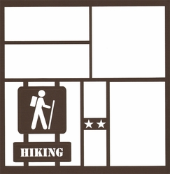 1SYT Hiking Sign 12 x 12 Overlay Laser Die Cut