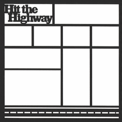 Hit The Highway 12 x 12 Overlay Laser Die Cut