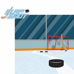 2SYT Hockey: Slap Shot 2 Piece Laser Die Cut Kit