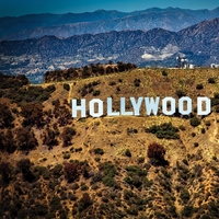 Hollywood Sign 12 x 12 Paper