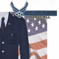 Home of the Brave: U.S Airforce 2 Piece Laser Die Cut Kit