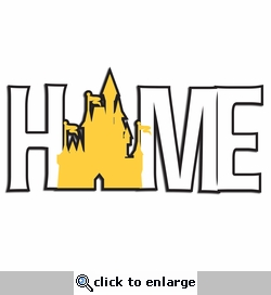 Home with Castle Laser Die Cut