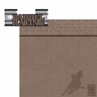 Horseriding: Barrel Racing 2 Piece Laser Die Cut Kit