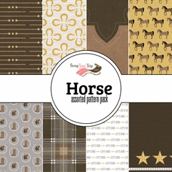 Horses Assorted 12 x 12 Paper Pack