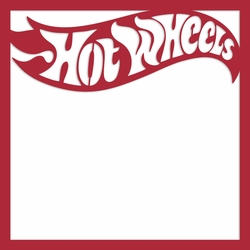 Hot Wheels 12 x 12 Overlay Laser Die Cut