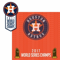 Houston Astros 2017 Champs 2 Piece Laser Die Cut Kit
