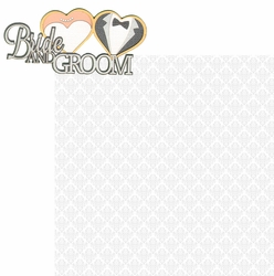 I Do: Bride And Groom 2 Piece Laser Die Cut Kit