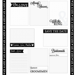 I Do: Journaling Cards 12 x 12 Paper