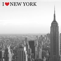 I Heart New York: Empire State 12 x 12 Paper